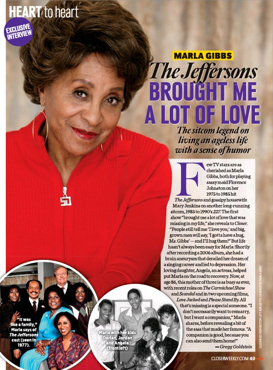 """??  ?? """"It was like a family,"""" Marla says of The Jeffersons cast (seen in 1977). Marla with her kids Dorian, Jordan and Angela (from left)"""