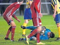 ??  ?? Safe hands: Kevin Main keeps Formartine in the game