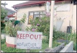 ?? PICTURE: YAZEED KAMALDIEN ?? WARNING: The Hazendal house in which Volkwyn lived with his 13 dogs.