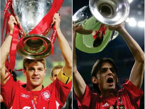 ?? (Getty) ?? Tonight's Champions League group - stage game is un l ike l y to be a l andmark match for either side – un l ike the 2005 ( l eft) and 2007 fina l s