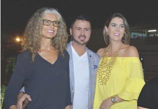 ??  ?? Lola Serna, Juan Carlos Leal y Andrea Vélez