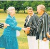??  ?? Ron Brierley meets the Queen. Photo / Supplied