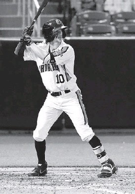 ?? MATT BUTTON PHOTOS/THE AEGIS/BALTIMORE SUN MEDIA ?? Orioles prospect Zach Watson is batting .253 with a .769 OPS, 20 home runs and 23 steals between High-A Aberdeen and Double-A Bowie.