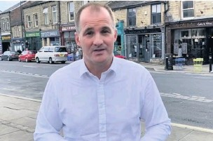 ??  ?? Rossendale MP Jake Berry in Bacup – he needs to get government to pay attention to town again