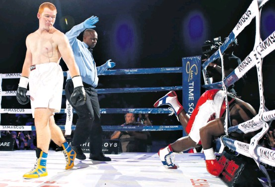 ?? Christo Smith ?? Joshua 'Red Beast' Pretorius knocked fellow heavyweight Nhlakanipho Gwamanda out one minute and 53 seconds into the first round in his fight on Sunday.