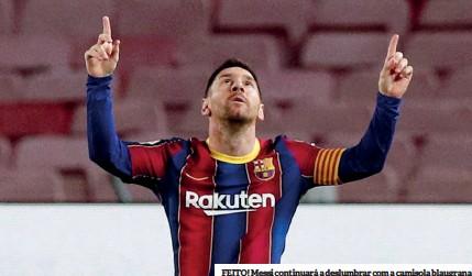 ??  ?? FEITO! Messi continuará a deslumbrar com a camisola blaugrana