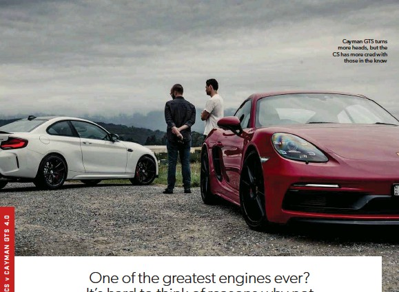 ??  ?? Cayman GTS turns more heads, but the CS has more cred with those in the know