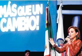 ??  ?? La panista compitió por la Presidencia y por la gubernatura del Edomex.