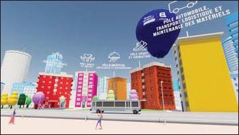 ??  ?? En se connectant, l'usager pourra se déplacer au sein d'une ville virtuelle, dans laquelle il accédera à toute l'information nécessaire à son orientation.
