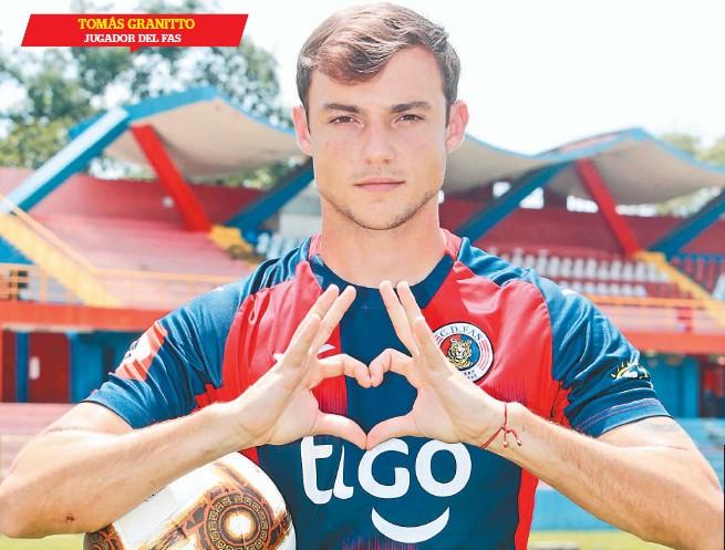 ??  ?? Motivado. Tomás Granitto se siente cómodo en FAS y aspira a ser parte de la selección.