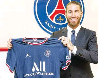 ??  ?? Sergio Ramos has sealed a two-year deal with Paris Saint-Germain (PSG)