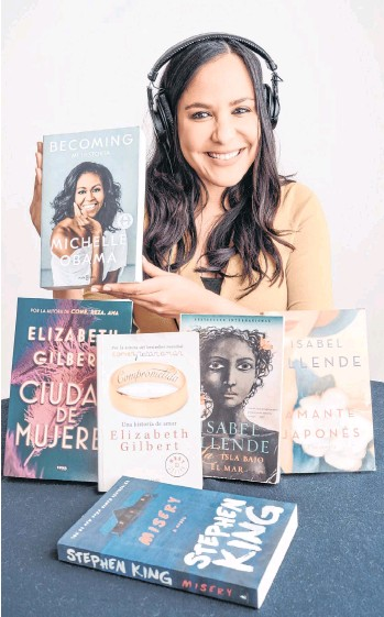 """?? /EFE ?? Fotografía sin fecha cedida por Alberto Santillan donde aparece la actriz dominicana Jane Santos, la única narradora del audiolibro """"Las verdades que sostenemos""""."""