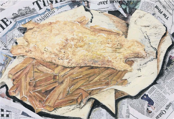 ??  ?? Katy Hordern's The Times Can Only Get Batter is one of the pictures in the new exhibition