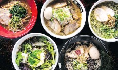 ??  ?? Jinya Ramen Bar has a variety of ramen bowls on its menu, including dishes with pork, chicken and fish.