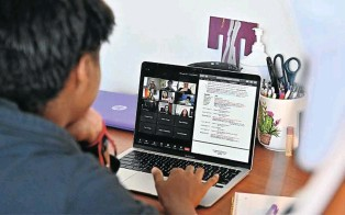 ?? Picture: Getty Images ?? The volume and particular challenges of Zoom meetings can be difficult for some to manage.