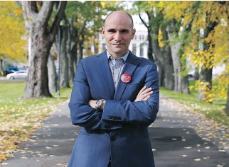 """?? MATHIEU BELANGER/MONTREAL GAZETTE ?? """"I'm an economist by training but I'm more of a philosopher by attitude,"""" says Québec riding Liberal MP Jean-Yves Duclos."""