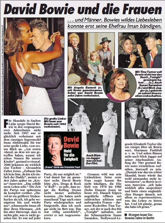 Pressreader Kronen Zeitung 2016 01 14 David Bowie Die Frauen
