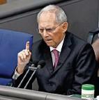 """??  ?? Warnte vor einer """"Atombombe"""": Bundestagspräsident und CDU-Urgestein Wolfgang Schäuble. FOTO: IMAGO/FREDERIC KERN"""