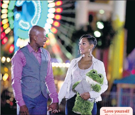 ?? By Alan Markfield, Screen Gems ?? The player and the cautious one: Zeke (Romany Malco) is kept waiting by Mya (Meagan Good) in the adaptation of Steve Harvey's best-selling book, Act Like a Lady, Think Like a Man. The film arrives April 20.