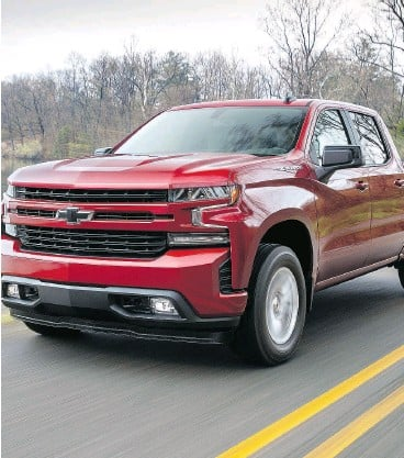 ?? CHEVROLET ?? The 2019 Chevrolet Silverado half-ton will have a turbocharged four-cylinder engine, as well as an all-new fuel management system on its V8 engines.