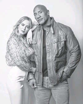 """?? PROVIDED BY MARCO GROB ?? Dwayne Johnson and Emily Blunt team up and sometimes play nice in """"Jungle Cruise,"""" in theaters and on Disney+ Friday."""