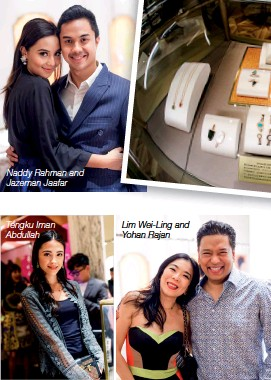 ??  ?? Lim Wei-ling and Yohan Rajan Naddy Rahman and Jazeman Jaafar Tengku Iman Abdullah Unveiled at the event were the adorable Bvlgari Bvlgari Gelati collection— a range that embodies the glamour of summer, with cute popsicle designs