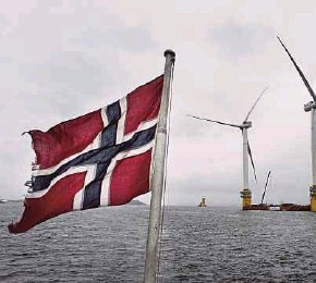 ?? BLOOMBERG PIC ?? An assembly site of offshore floating wind turbines operated by Statoil ASA in Stord, Norway. On climate change reporting, including tracking greenhouse gas emissions, Statoil got a strong 'A-'.