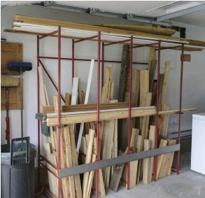 ??  ?? PROJECT WOOD is easily accessible with Donna's approach. You can organize your rack spaces by wood height, color or strength.