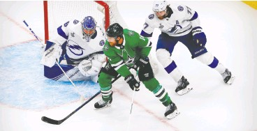 ?? Perry Nelson / USA TODAY Sports ?? Lightning defenceman Victor Hedman, right, and Stars forward Joe Pavelski are two of the favourites to win the Conn Smythe Trophy as MVP in this year's NHL playoffs.