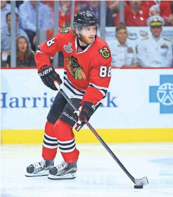 ?? DENNIS WIERZBICKI, USA TODAY SPORTS ?? Blackhawks star Patrick Kane has been accused by a woman of sexual assault.