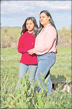 ??  ?? Quirina Geary and her daughter Niyatsatha Geary.
