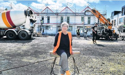 ?? PHOTO: GERARD O'BRIEN PHOTO: CHRISTINE O'CONNOR ?? Home sweet home . . . Toiora High Street Cohousing unit owner Gay Buckingham is looking forward to moving into her new home early next year.