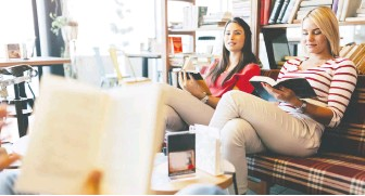 ??  ?? When it comes to reading and books, women have always enjoyed the collective experience of sharing their thoughts with one another, a way of constructing social networks and supportive partnerships.