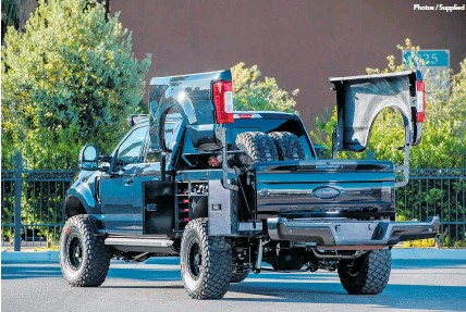 pressreader weekend herald    transformer tool truck     sema