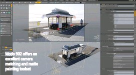 ??  ?? Modo 902 offers an excellent camera matching and matte painting toolset