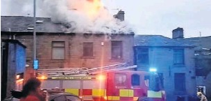 ?? Irwell Peter ?? Fire ripped through a three-storey house on Plantation Street, Stacksteads.