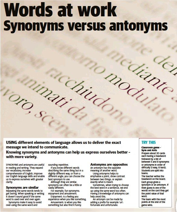 An Antonym Can Be Made By Adding A Prefix For Example Un Fortunate And Unfortunate