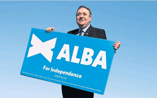 ??  ?? ELECTION BID: Alex Salmond launched the Alba Party in the quest for independence but Nicola Sturgeon has expressed concerns about it.