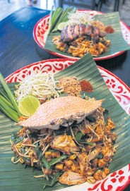 ??  ?? LEFT Baan Phadthai comes with several selections of Thailand's favourite cuisine.