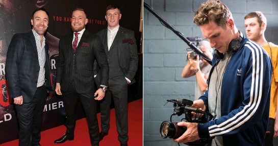 ??  ?? Conor with Gavin (right) and producer Jamie D'Alton at Notorious' Dublin premiere & zoom with a view