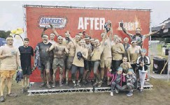 ??  ?? Nicole with her colleages and friends after the Tough Mudder