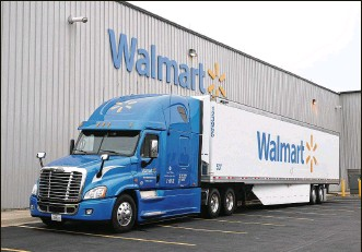 ?? CONTRIBUTED ?? Walmart is adding 125 truck-driving jobs at its Washington Court House distribution center.