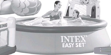 ??  ?? BOUNCE and Play with Playhouse Jump-o-lene. SUMMERIZE your backyard with this Intex Easy Pool Set.