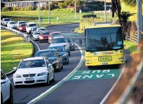 ?? Photo / File ?? Buses should be the only vehicles to use the Hairini bus lane, but that does not appear to be the case as Tauranga City Council reveals how many breaches there have been.