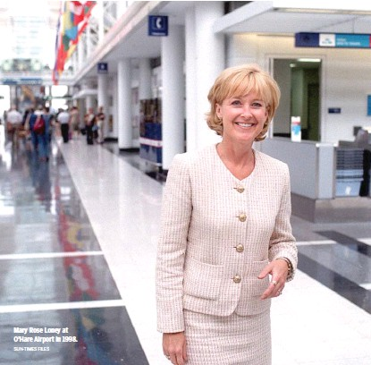 ?? SUN-TIMES FILES ?? Mary Rose Loney at O'Hare Airport in 1998.