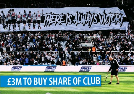 ??  ?? £3M TO BUY SHARE OF CLUB