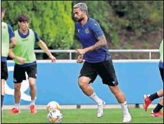 ??  ?? Willian José, en un entrenamiento reciente con la Real.