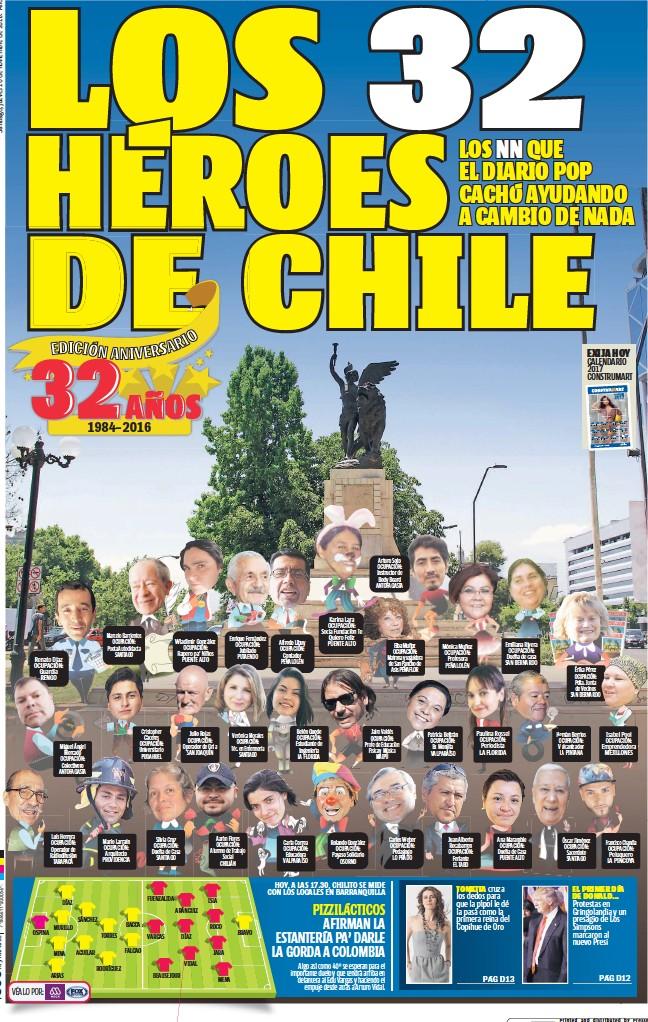 PressReader - La Cuarta - Aniversario: 2016-11-10 - LOS 32 HÉROES DE ...