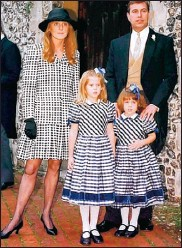 ??  ?? FAMILY HISTORY: Eugenie, right, pictured with Beatrice and her parents in 1995.