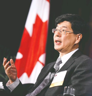 ?? JUSTIN TANG / THE CANADIAN PRESS FILES ?? Cong Peiwu, the Chinese ambassador to Canada, says Canada is indulging in Chinabashing with its pending vote on declaring a genocide against ethnic Muslim Uyghurs.